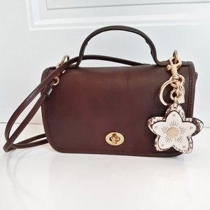 Vintage Coach Brown Leather Casino Bag 9924